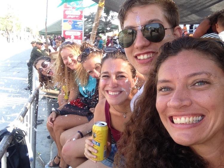 Foam at Carnaval Barranquilla 2017