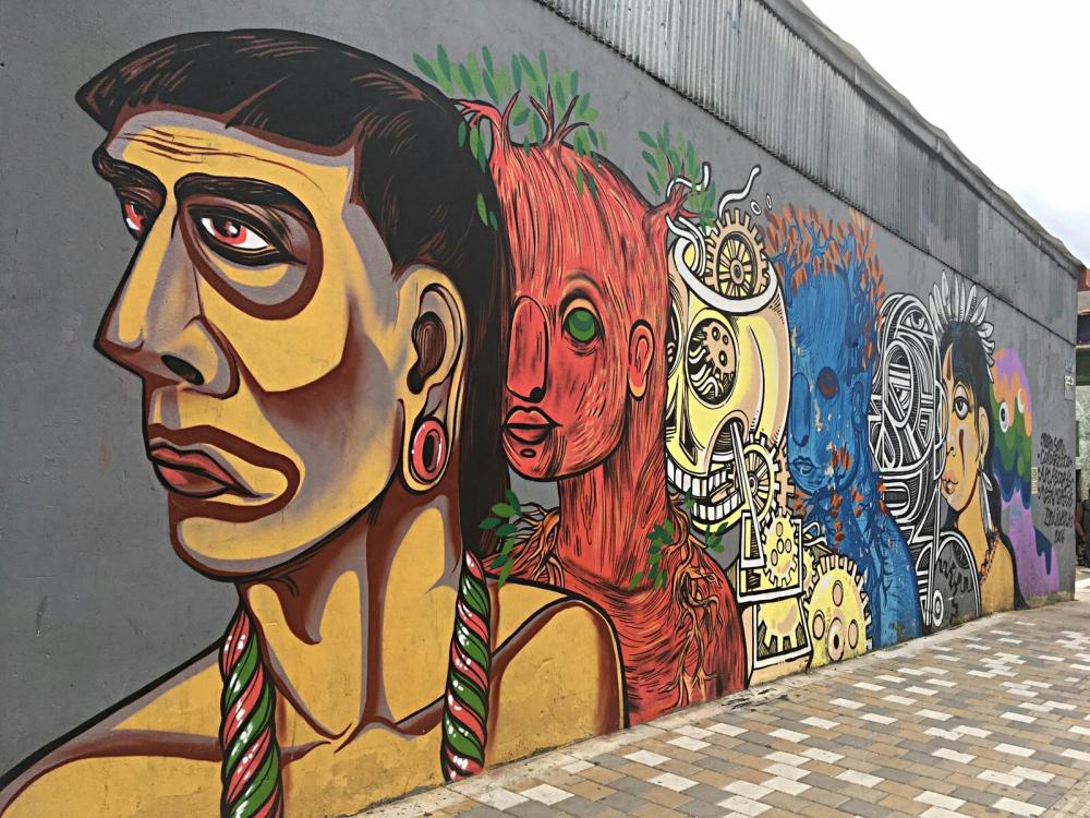 Graffiti in Bogota Colombia