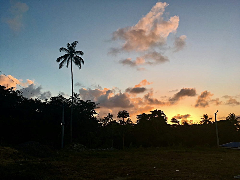 Uitzicht vanaf San Andres Colombia